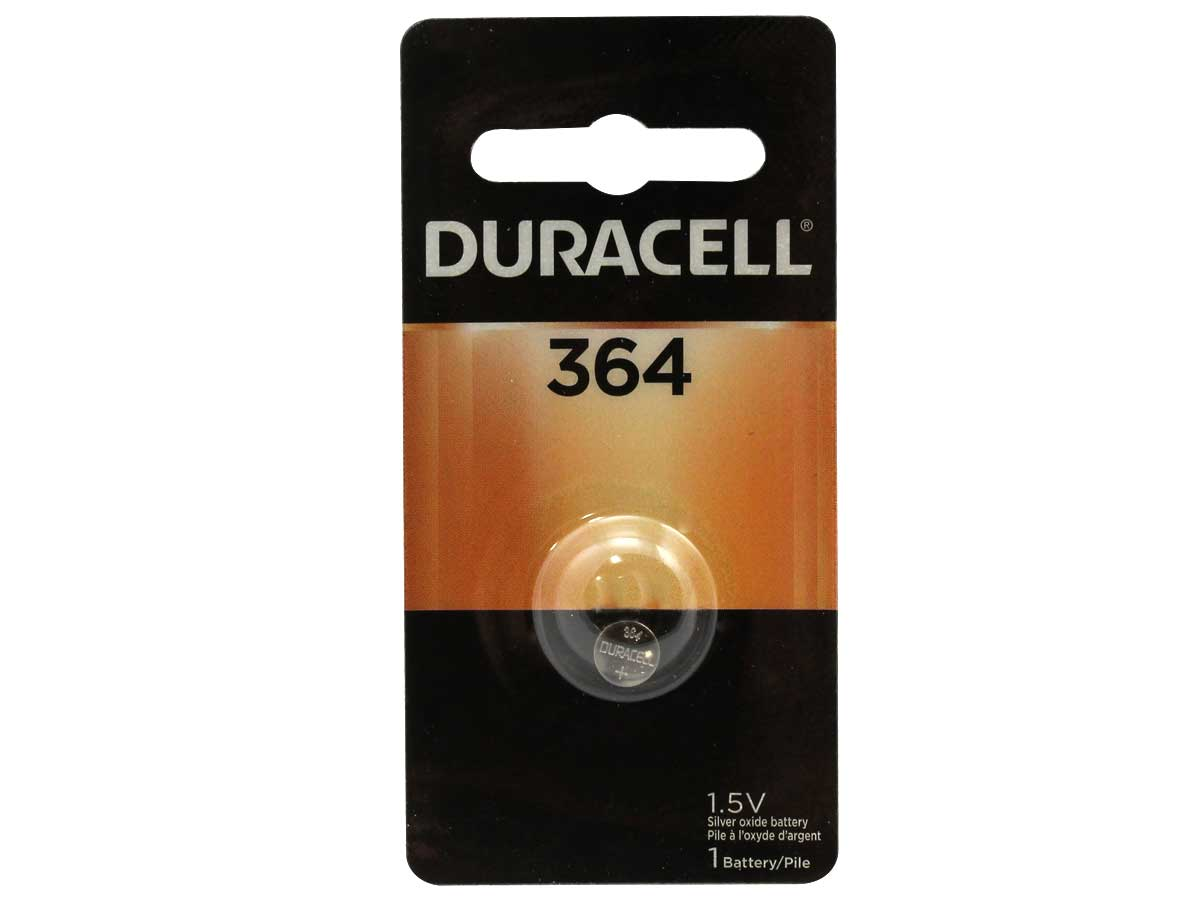 Duracell D364 Coin Cell in Retail Card Packaging