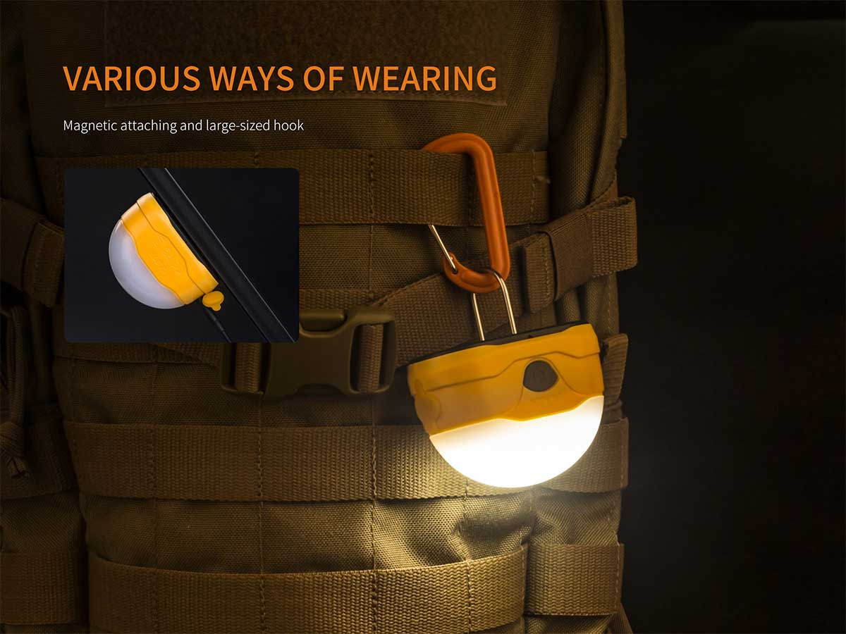 Ways you can wear the pocket sized light
