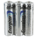 Energizer Ultimate L91 (3SHK) AA 3000mAh 1.5V Lithium Button Top Batteries - 3 Pack Shrink Wrap