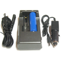 AE Light 2-Bay 18650 Battery Charger - 120V AC - 12/24V DC - Includes 1 x 18650