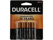 Duracell Coppertop Duralock MN1500-B4 AA LR6 1.5V Alkaline Button Top Batteries - 4 Piece Retail Card