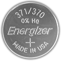 Energizer 371VZ SR920SW (1000PK) 34mAh 1.55V Silver Oxide (Zn/Ag20) Coin Cell Batteries - Case of 1000