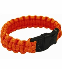 Ultimate Survival Technologies Survival Bracelet - 8-inch Wrist Band with Nylon Buckle - 8 Feet of Paracord - Orange (20-295BB-35)
