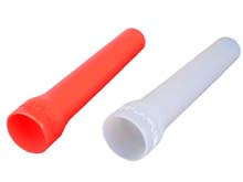 Klarus Red and White Silicone Traffic Wands (41mm) for the 360X3, XT11X, and XT21X - KTW-3 & KDF-3