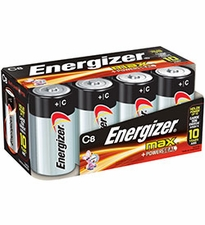 Energizer Max E93-FP-8 C-cell Alkaline Button Top Battery - 8 Piece Family Pack