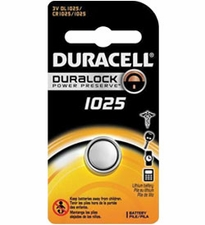 Duracell Duralock DL CR1025 30mAh 3V Lithium (LiMNO2) Watch/Electronic Coin Cell Battery - 1 Piece Retail Card