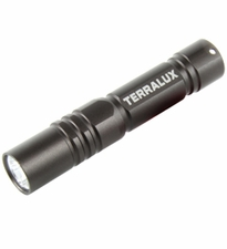 TerraLUX / Lightstar Corp. Keychain Series Flashlight - 35 Lumens - Runs on 1x AAA Battery - Grey