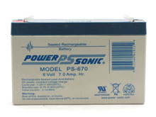Power-Sonic AGM General Purpose PS-670 7Ah 6V Rechargeable Sealed Lead Acid (SLA) Battery - F1 Terminal