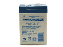 Power-Sonic AGM General Purpose PS-640F 4.5Ah 6V Rechargeable Sealed Lead Acid (SLA) Battery - F1 Terminal
