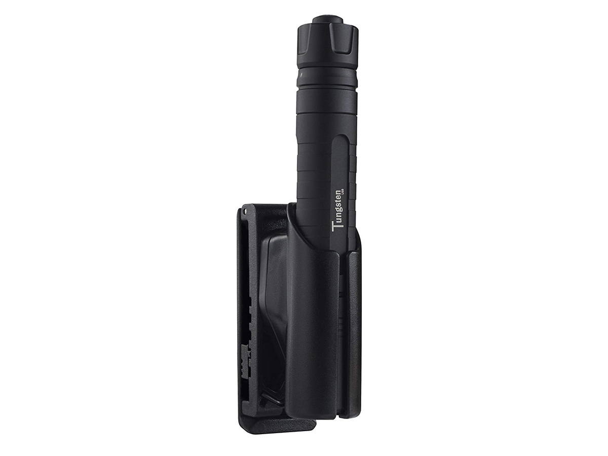 asp tactical holster tungsten with a flashlight not on a model
