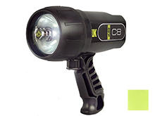 Underwater Kinetics C8 eLED Handheld Dive Light - 400 Lumens - Uses 8 x C Cells - Black or Yellow