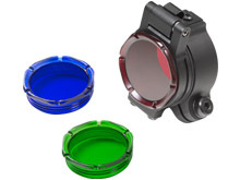 """SureFire FM70 Filter Assembly For 1.125"""" Bezels - Includes Red,  Blue, Green, and Black Out Lenses"""