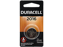 Duracell Duralock DL CR2016 75mAh 3V Lithium (LiMNO2) Watch/Electronic Coin Cell Battery - 1 Piece Retail Card
