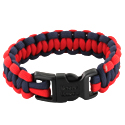 Rescueband Survival Bracelet - Holds Up To 550lbs - Red Outside with Navy Inside - 8 or 9 Inch Diameter
