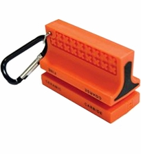 Ultimate Survival Technologies SaberCut Knife Sharpener with Carabiner Clip - 2-Stage Ceramic and Carbide - Orange (20-310-635)
