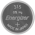 Energizer 315 23mAh 1.55V Silver Oxide Coin Cell Batteries  - Case of 8000