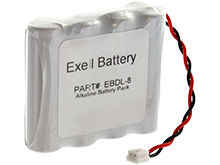 Exell EBDL-8 6V Alkaline Door Lock Battery Pack - Replaces the A28110, A28100 and 884952