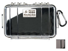 Pelican 1050 Watertight Case - Black - Available with Clear or Solid Cover