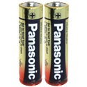 Panasonic Industrial LR6XWA AA 1.5V Alkaline Button Top Batteries - 2 Pack Shrink Wrap