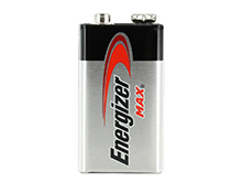 Energizer Max 522-VP 9V Alkaline Battery with Snap Connector - Bulk