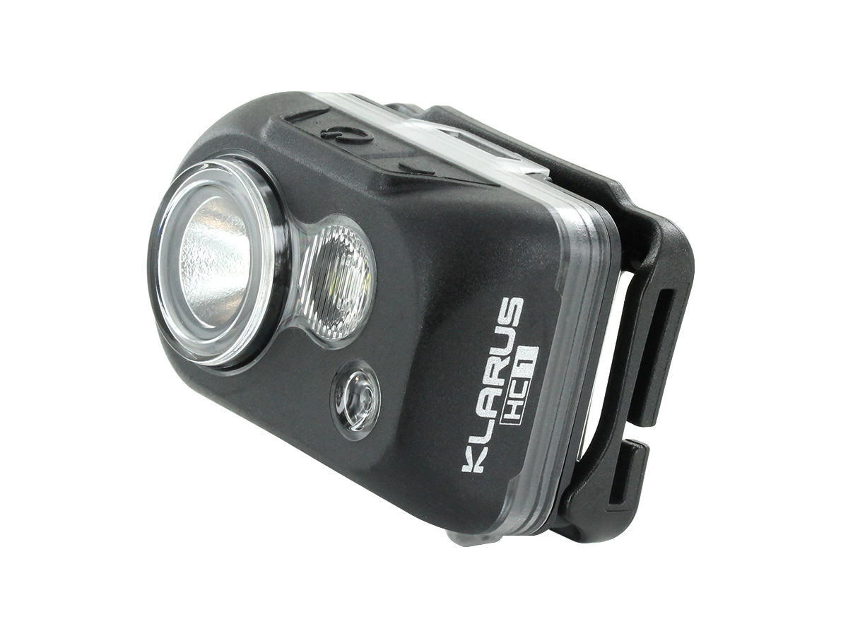 Klarus HC1 R Headlamp stand alone at an angle