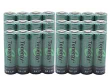 Tenergy 10308 AA (24PK) 2600mAh 1.2V  Nickel Metal Hydride (NiMH) Button Top Batteries - Pack of 24