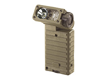 Streamlight Sidewinder Military Hands-Free Articulating Flashlight - White, Red, Blue and IR LEDs - 55 Lumens - Includes 2 x AAs - Accessories and Packaging Vary