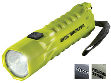 Pelican 3315 Intrinsically Safe LED Flashlight - 160 Lumens - Available in Black, Yellow, and Photoluminescent