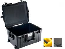 Pelican Air 1607 Wheeled Watertight Protector Case - Available with Foam or Dividers - 24.1 x 18.8 x 13.3-inches - Black
