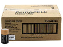 Duracell Coppertop Duralock MN1400 (72PK) C-cell 1.5V Alkaline Batteries - Made in the USA - Box of 72