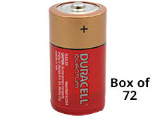 Duracell Quantum QU1400 (72PK) C-cell 1.5V Alkaline Button Top Batteries - Contractor Pack of 72