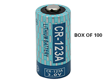 Powerizer CR123A (100PK) 1300mAh 3V Lithium Primary (LiMNO2) Button Top Batteries - Box of 100