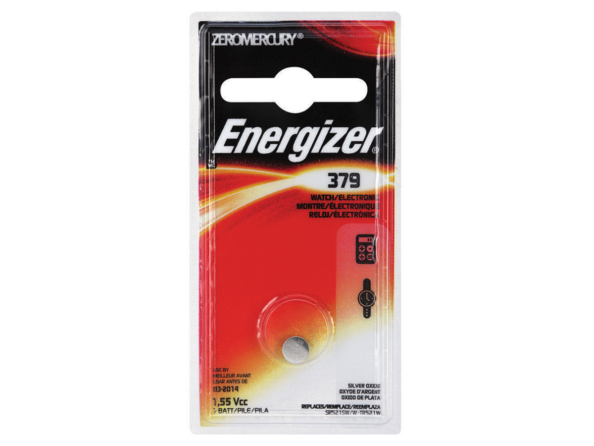 Energizer 379 coin cell in 1 piece blister packaging