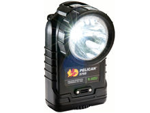 Pelican 3765 Rechargeable Right Angle LED Flashlight - 237 Lumens - Includes 4 x NiMH AAs & Charger - Black (PELICAN-3765-061-110)