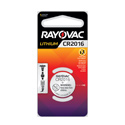 Rayovac Specialty KE CR2016 90mAh 3V Lithium Primary (LiMNO2) Coin Cell Battery for Keyless Entry - 1 Piece Retail Card