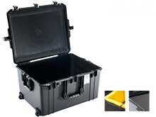 Pelican Air 1637 Wheeled Watertight Protector Case - Available with Foam or Dividers - 26.6 x 20.7 x 14.9-inches - Black