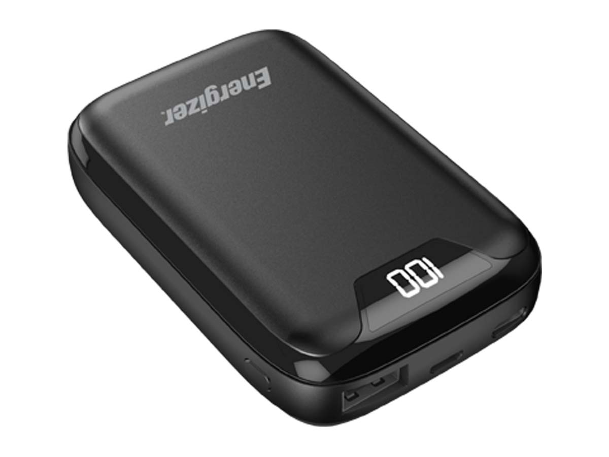 Energizer 5V 2.4A 10000mAh Power Bank Charger with LCD Screen (UE10042) - Black
