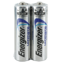 Energizer Ultimate L91 (2SHK) AA 3000mAh 1.5V High Energy 5A Lithium (LiFeS2) Button Top Batteries - 2 Piece Shrink Wrap (200 Shrinks per Case)