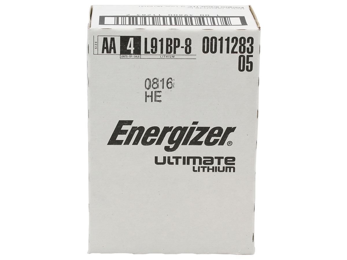 Small bulk orders box for Energizer L91 AA batteries
