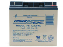 Power-Sonic AGM General Purpose PS-12200 20Ah 12V Rechargeable Sealed Lead Acid (SLA) Battery - NB Terminal