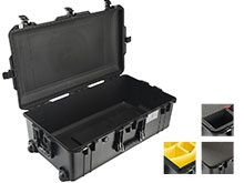 Pelican 1615 AIR Wheeled Check-In Watertight Case with Logo - Black - Multiple Inserts Available