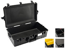Pelican 1605 AIR Watertight Case with Logo - Black - Multiple Inserts Available