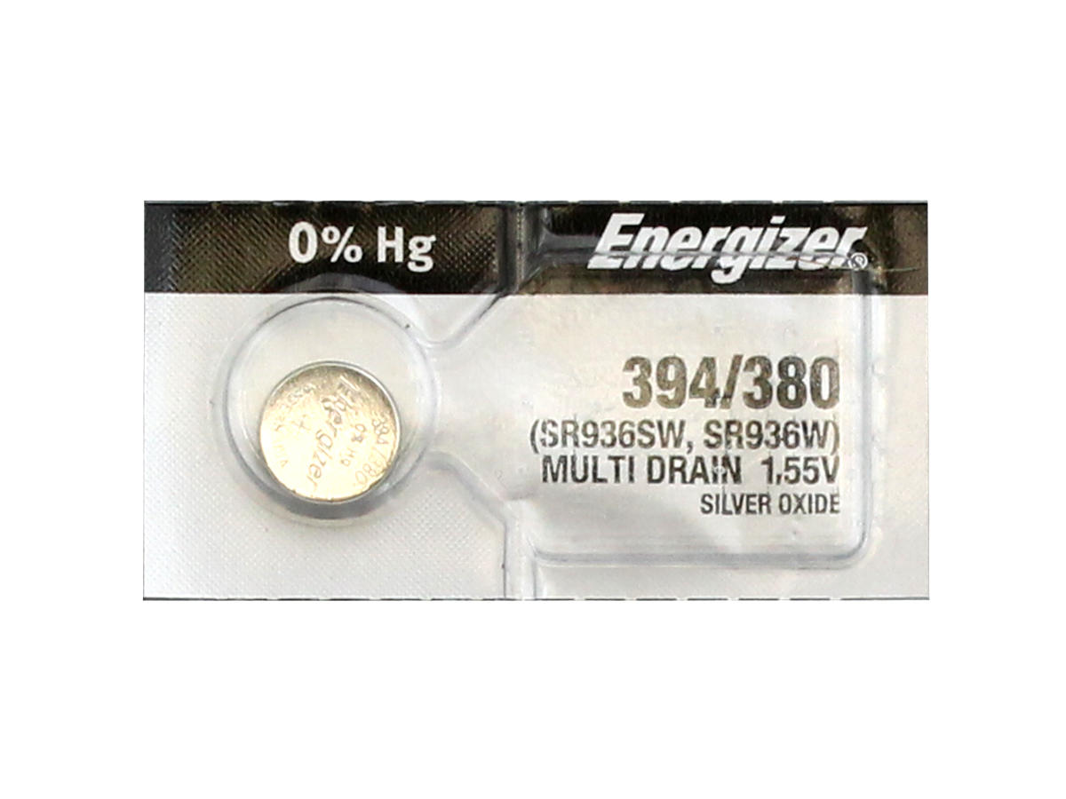 Energizer 394 coin cell in 1 piece tear strip packaging