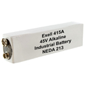 Exell 415A 45V Alkaline Industrial Battery for VOMs, Radios - Replaces Eveready 415, BLR102