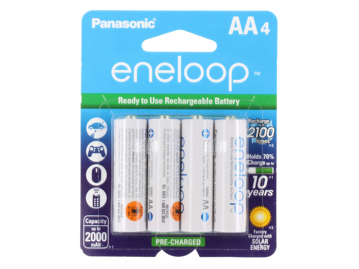 Example of 4-Pack of Batteries