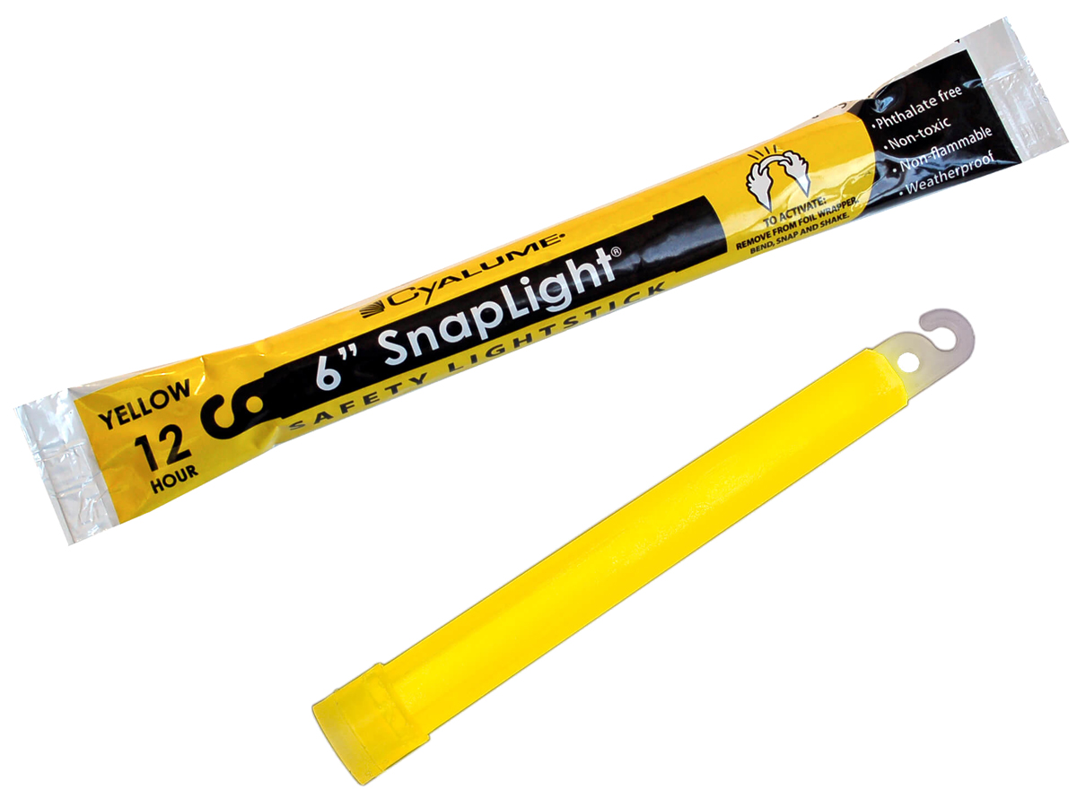 Cyalume 6inch SnapLight in yellow