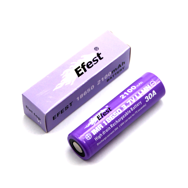 Efest 4064 flat top 18650 battery with box