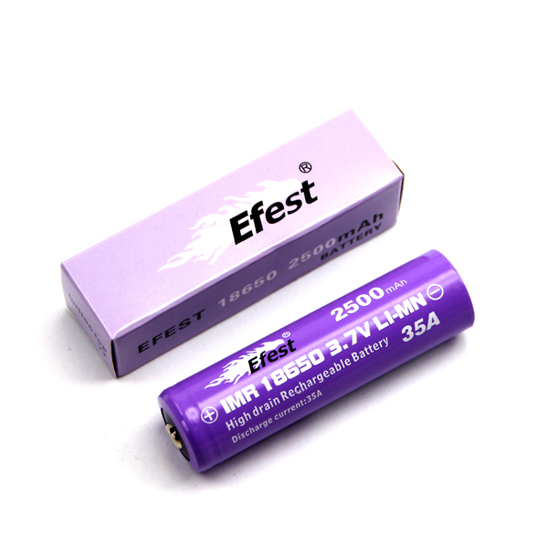 Efest 4066 18650 flat top battery with box
