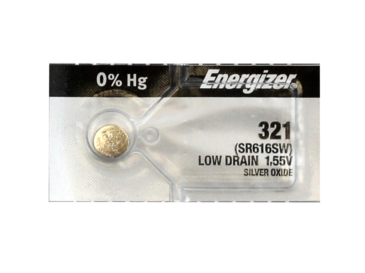Energizer SR616SW coin cell in tear strip packaing