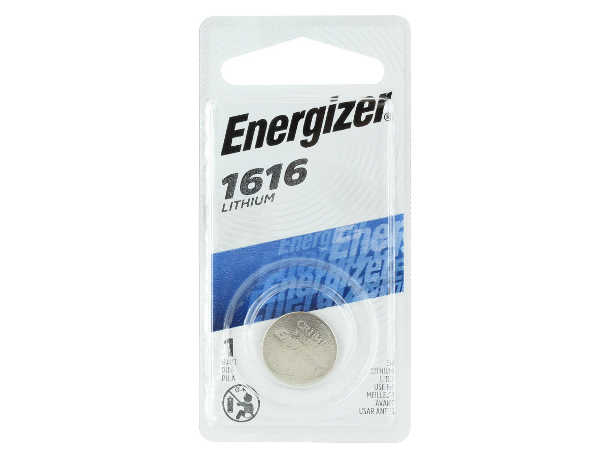 Energizer ECR1616-BP Lithium Coin Cell Battery Blister Pack - 1 Piece